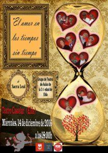 Cartel El Amor en los tiempos sin tiempo